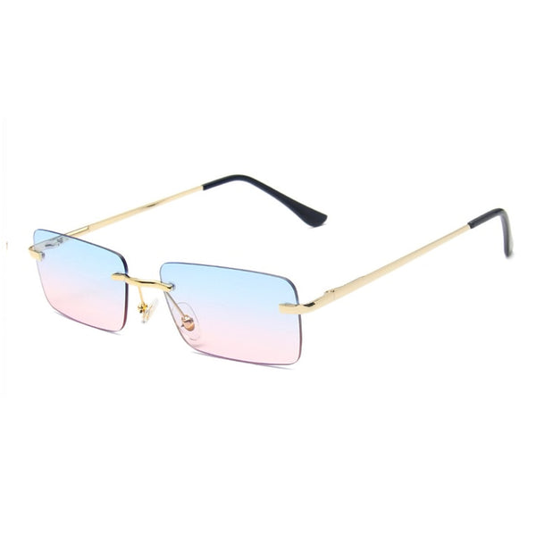 Medium Rimless Rectangle Sunglasses - Candy Floss