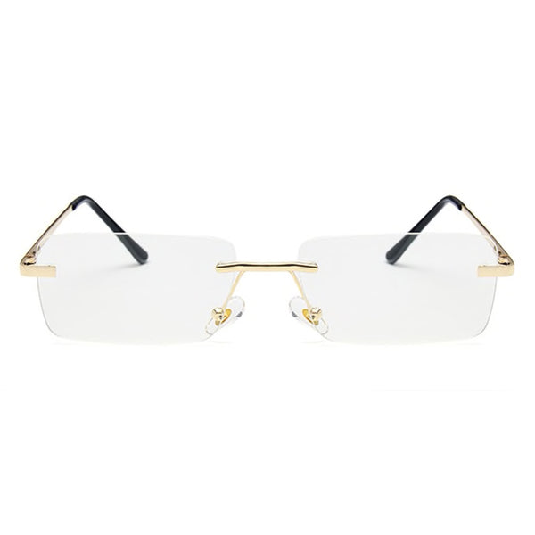 Medium Rimless Rectangle Sunglasses - Clear