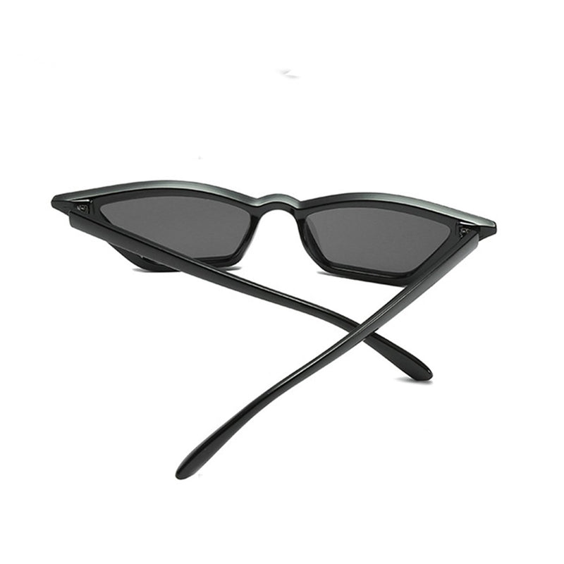 Slim Cat Eye Sunglasses - Black