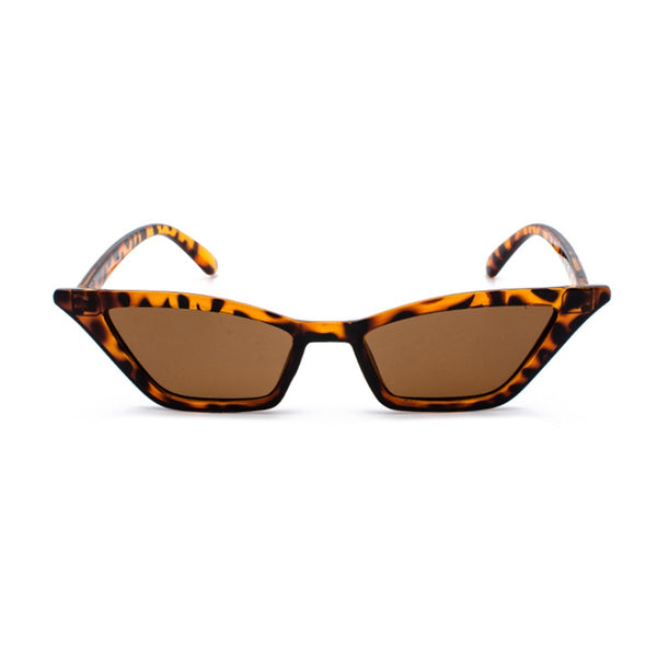 Slim Cat Eye Sunglasses - Leopard