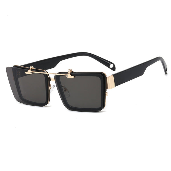 Square Flip Up Sunglasses - Black
