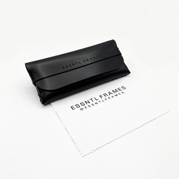 Essntl Frames Sunglasses Case + Cloth - Black