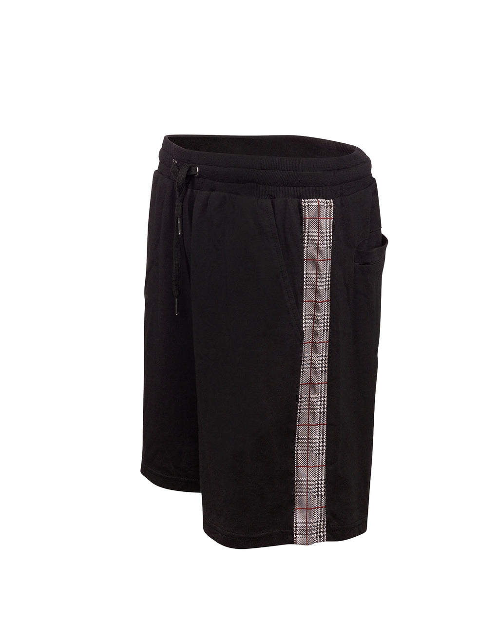 Check Stripe Shorts - Black
