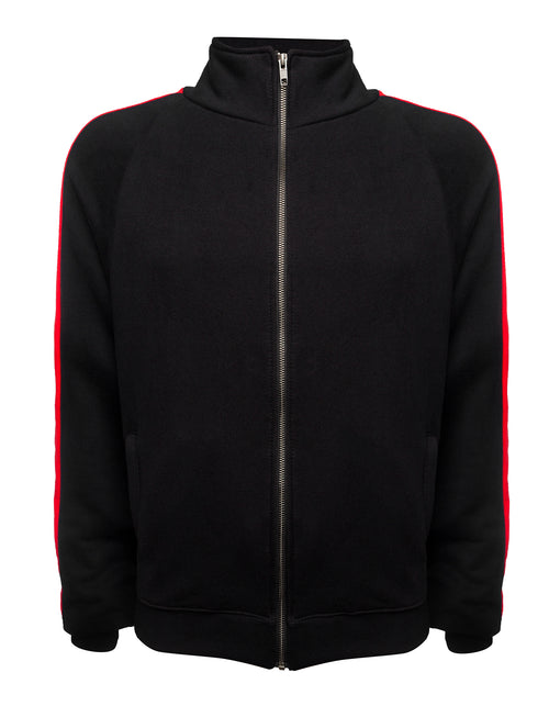 red stripe track jacket