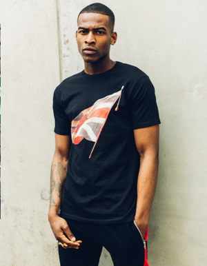 UNION JACK T-SHIRT - BLACK
