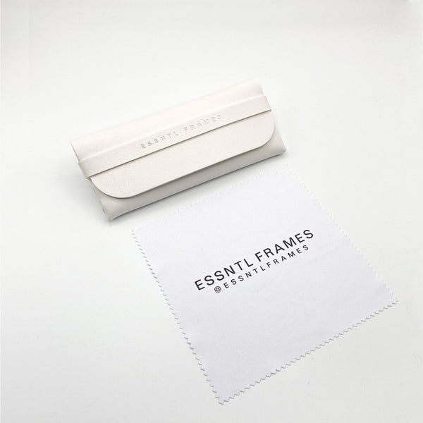 Essntl Frames Sunglasses Case + Cloth - White