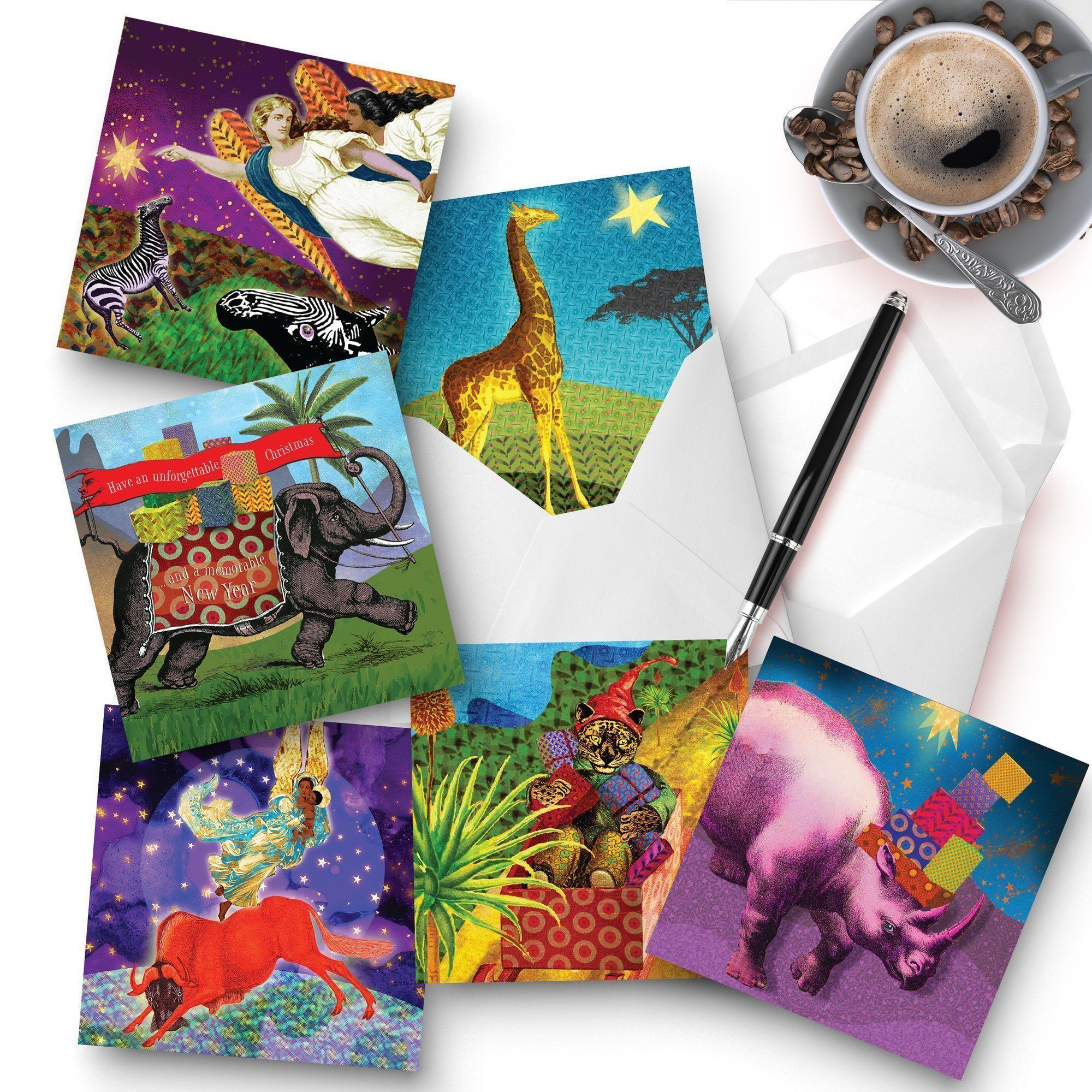 African Wildlife Christmas Cards