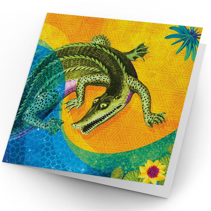 Africa Dreaming Crocodile Greeting Card