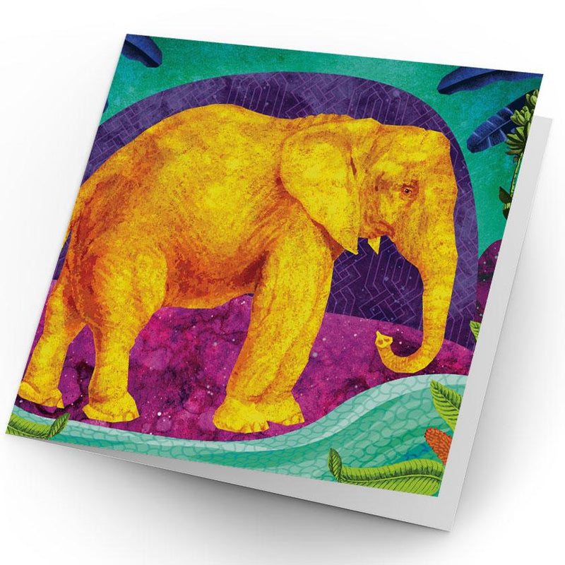 Africa Dreaming Elephant Greeting Card