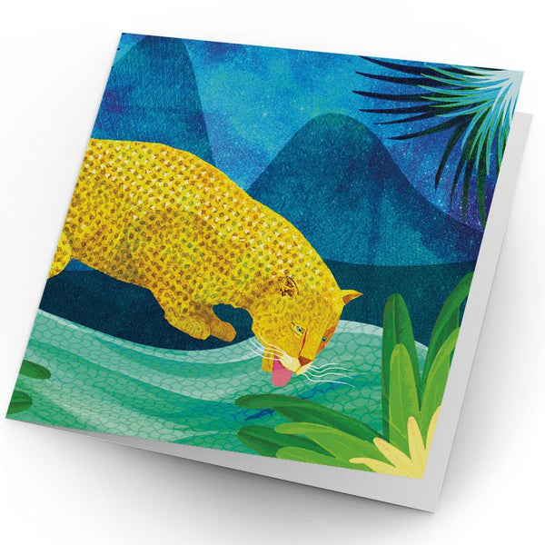 Africa Dreaming Leopard Greeting Card