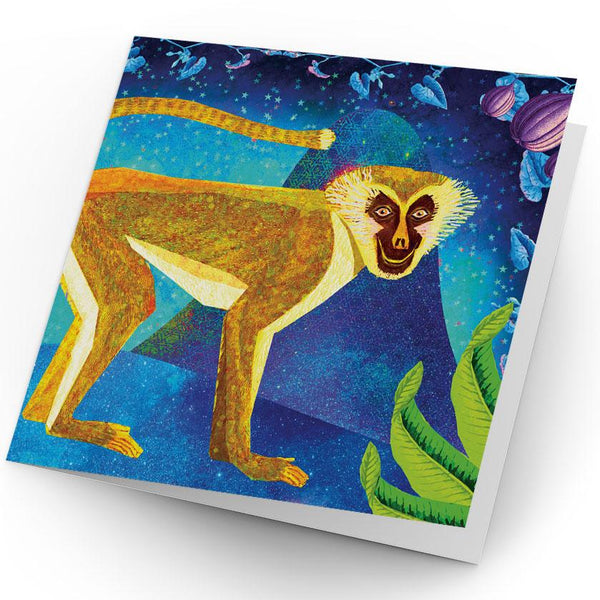 Africa Dreaming Monkey Greeting Card