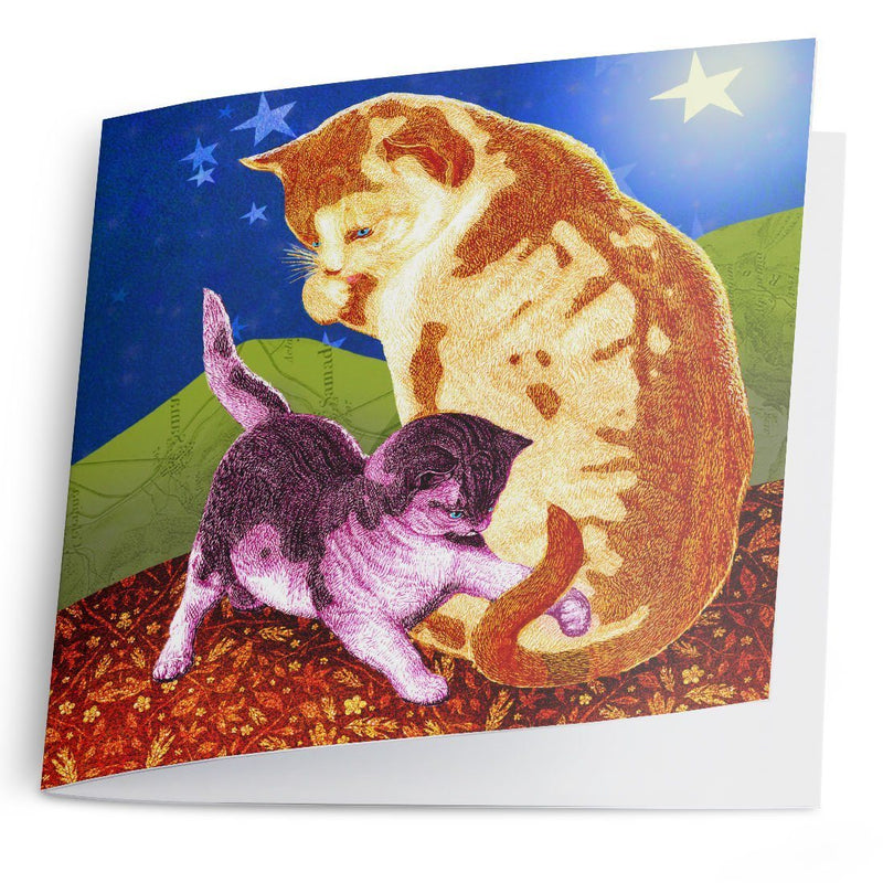 Cat and Kitten-Greeting Card-Tony Pinchuck-Tony Pinchuck