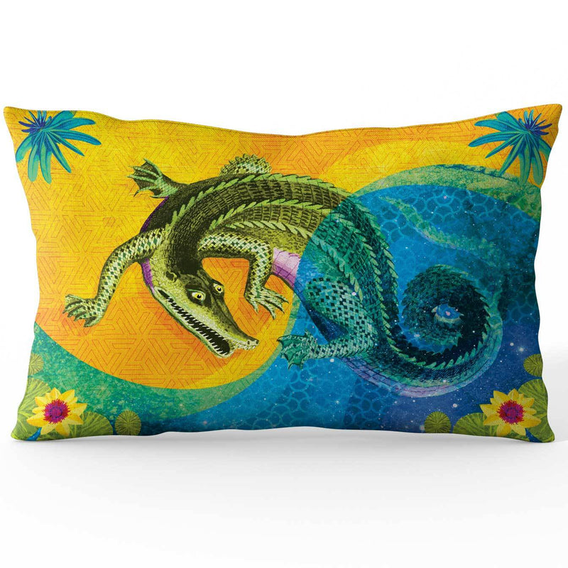 Africa Dreaming Crocodile Cushion