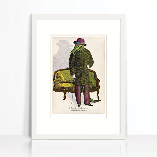 Sir Christopher Crocodile-Wall Art-Tony Pinchuck-Tony Pinchuck