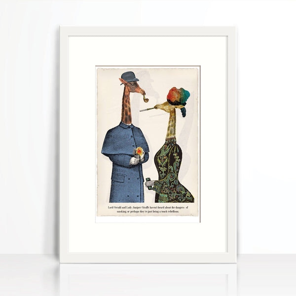 Lord Gerald and Lady Juniper Giraffe-Wall Art-Tony Pinchuck-Tony Pinchuck