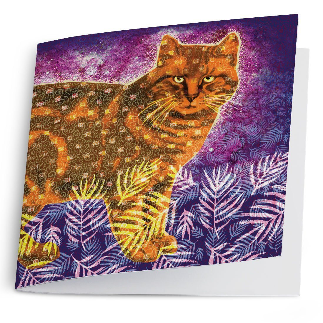 Orange Cat Greeting Card-Greeting Card-Tony Pinchuck-Tony Pinchuck
