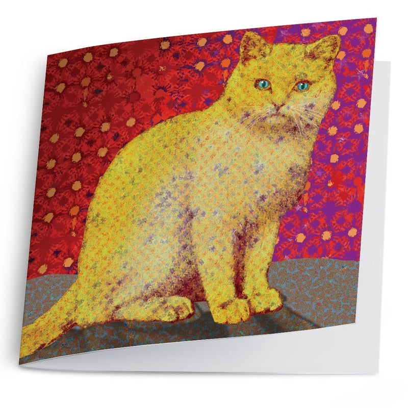 Yellow Cat-Greeting Card-Tony Pinchuck-Tony Pinchuck