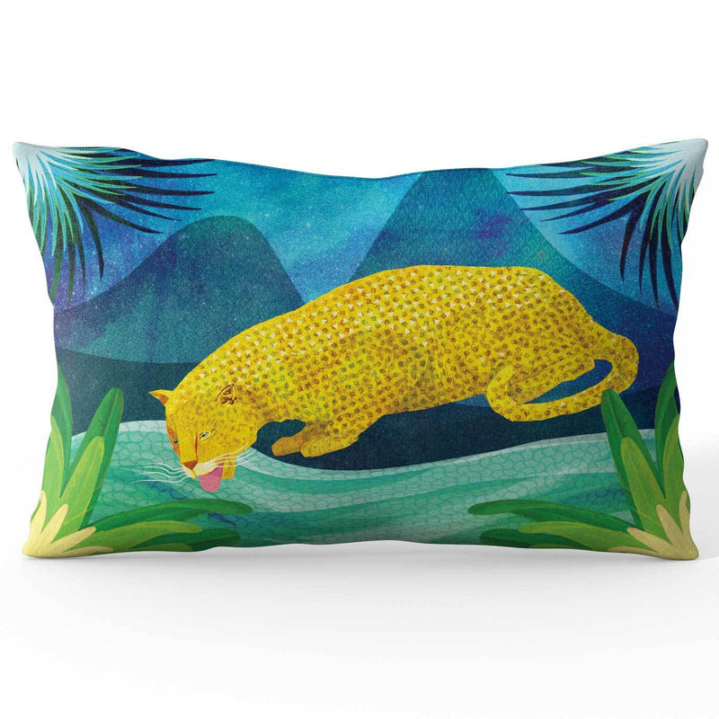Africa Dreaming Leopard Cushion