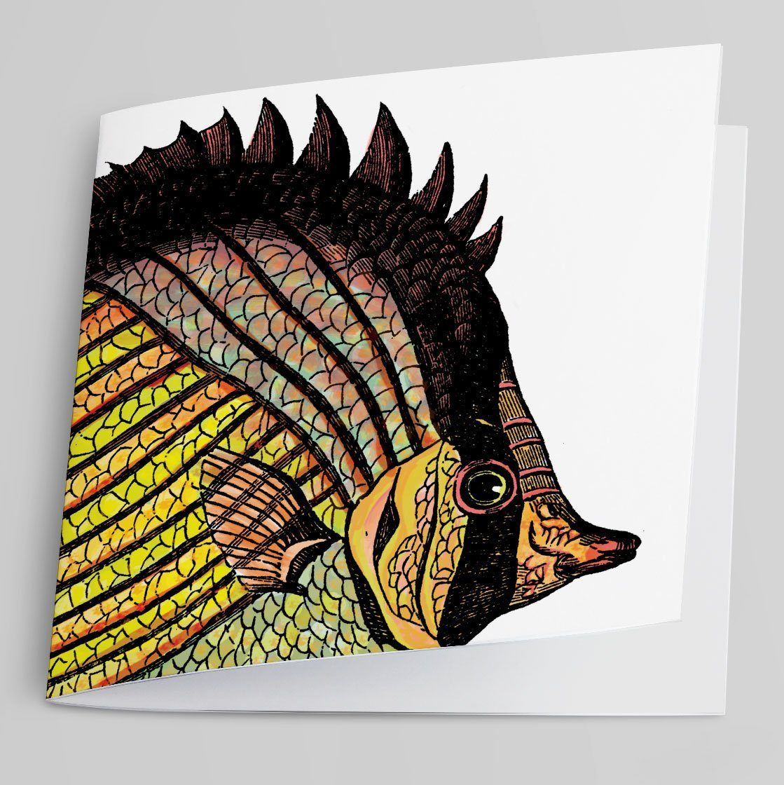 Butterfly Fish Greeting Card-Greeting Card-Tony Pinchuck-Tony Pinchuck