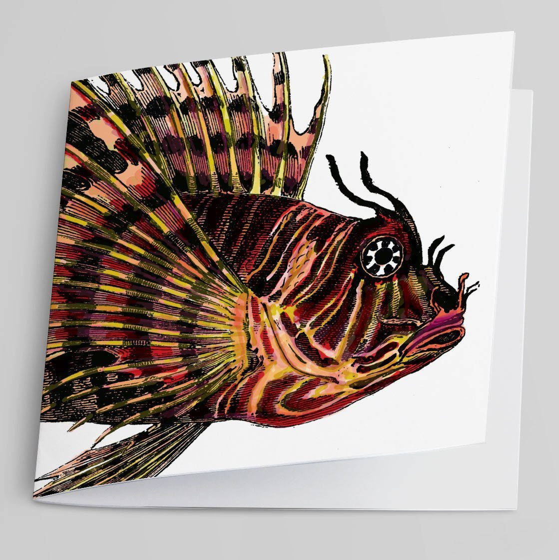 Fire Fish Greeting Card-Greeting Card-Tony Pinchuck-Tony Pinchuck