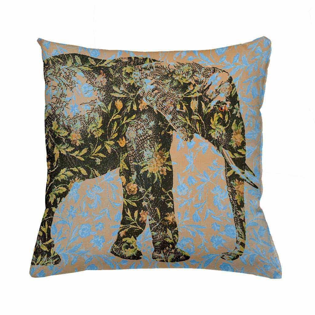 Floral Elephant Cushion Cover-Cushion Cover-Tony Pinchuck-Tony Pinchuck
