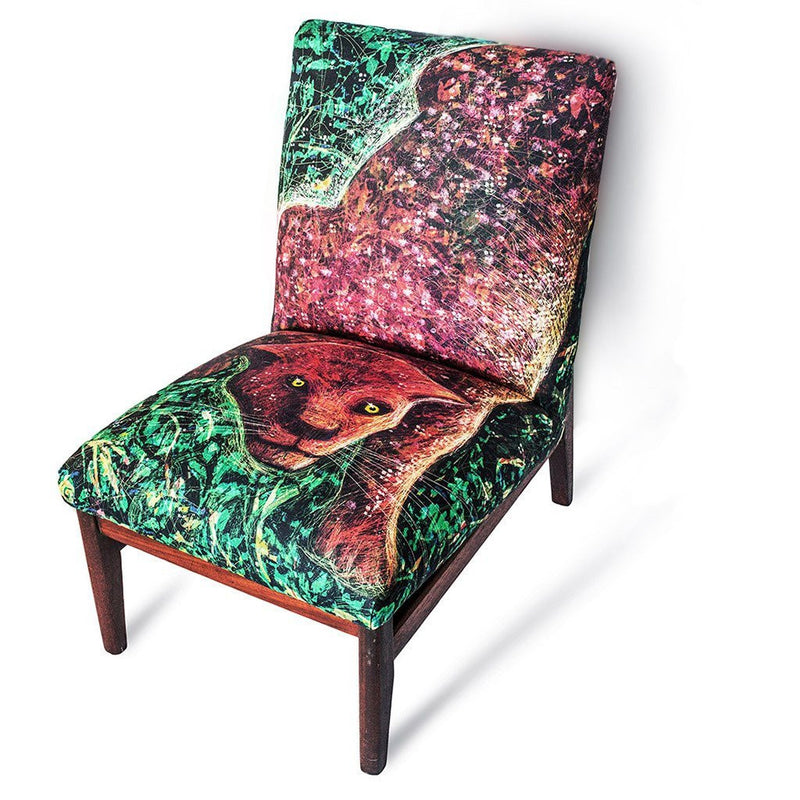 Red Leopard Chair-Furniture-Tony Pinchuck-Tony Pinchuck