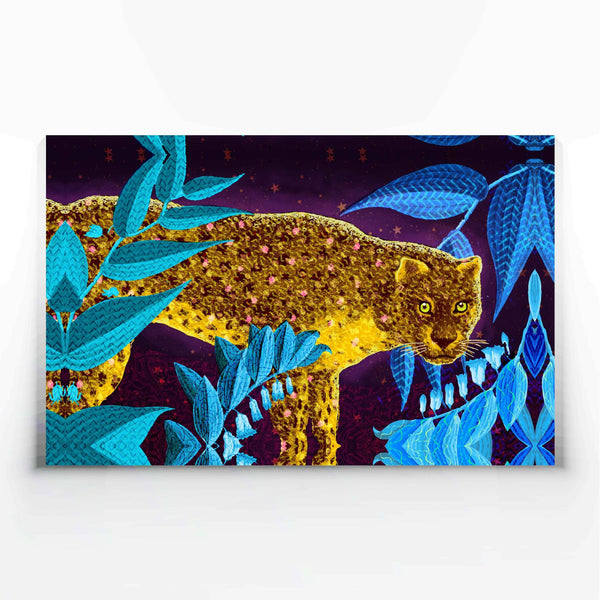 Golden Leopard Canvas Print-Wall Art-Tony Pinchuck-Large (130 x 80 cm/ 52 x 32 in)-Tony Pinchuck