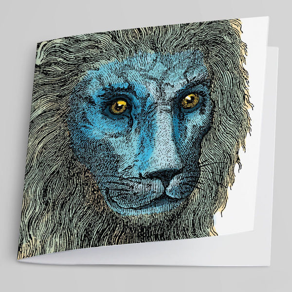 Lion Greeting Card-Greeting Card-Tony Pinchuck-Tony Pinchuck
