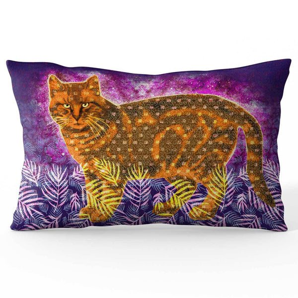 Orange Cat Ramie Cushion