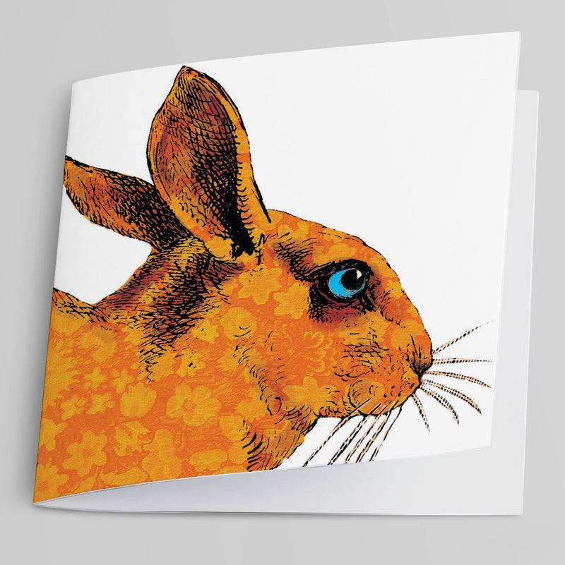 Orange Rabbit-Greeting Card-Tony Pinchuck-Tony Pinchuck