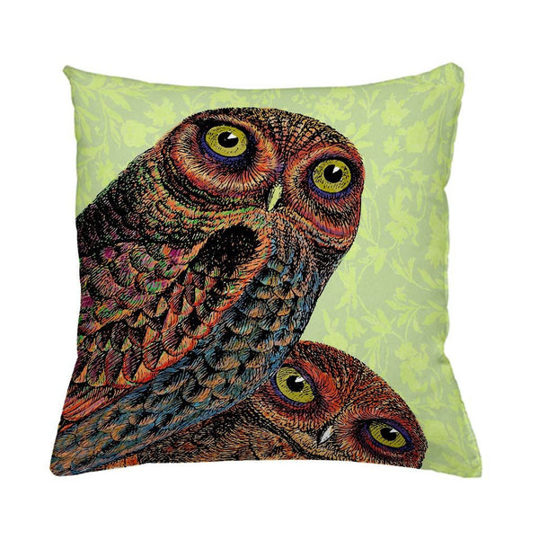 Owl Pair Cushion Cover-Cushion Cover-Tony Pinchuck-Tony Pinchuck