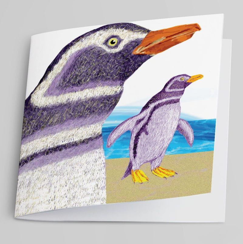 Penguins Greeting Card-Greeting Card-Tony Pinchuck-Tony Pinchuck
