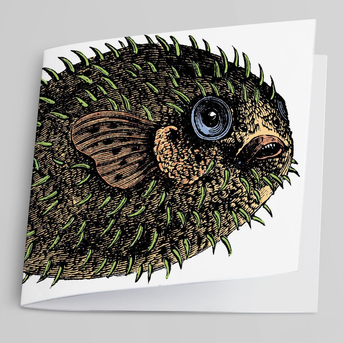Puffer Fish Greeting Card-Greeting Card-Tony Pinchuck-Tony Pinchuck