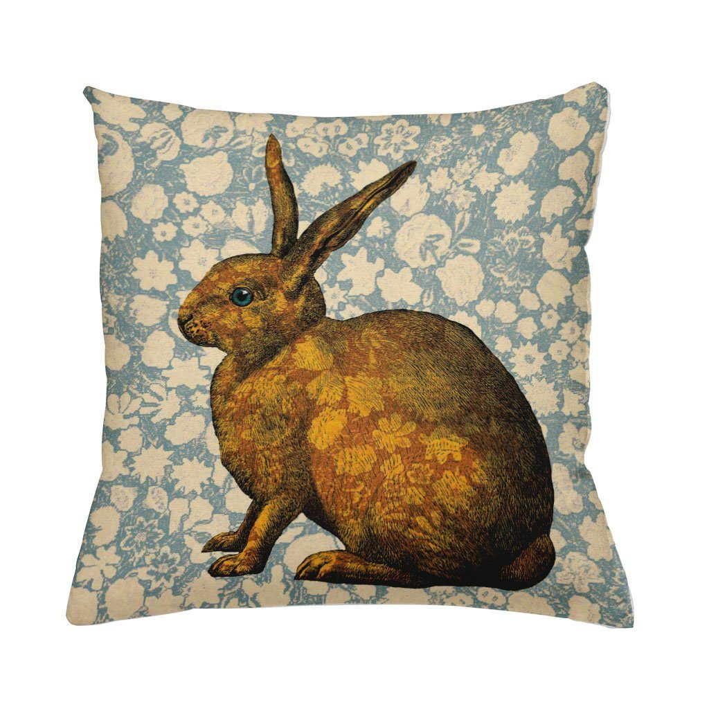 Orange Rabbit Cushion Cover-Cushion Cover-Tony Pinchuck-Tony Pinchuck