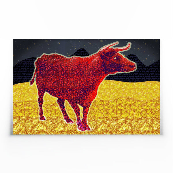 Red Bull Canvas Print-Wall Art-Tony Pinchuck-Tony Pinchuck