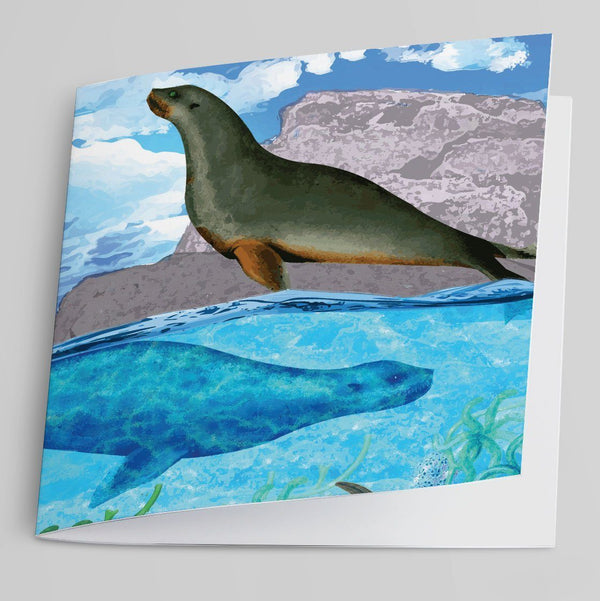 Seals Greeting Card-Greeting Card-Tony Pinchuck-Tony Pinchuck