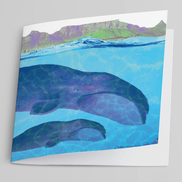 Southern Right Whales-Greeting Card-Tony Pinchuck-Tony Pinchuck