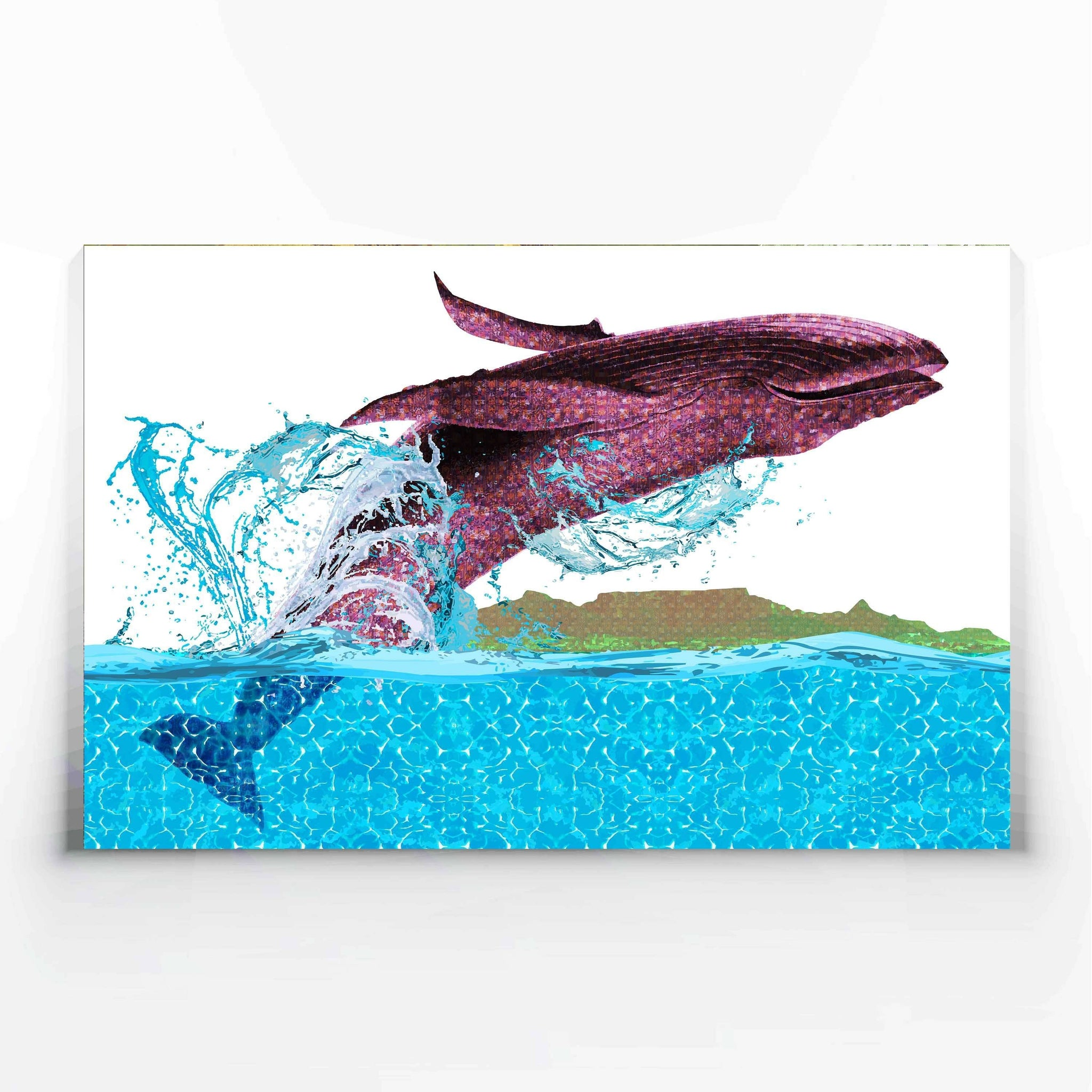 Leaping Whale Canvas Print-Canvas Prints-Tony Pinchuck-Large (130 x 80 cm/ 52 x 32 in)-Tony Pinchuck