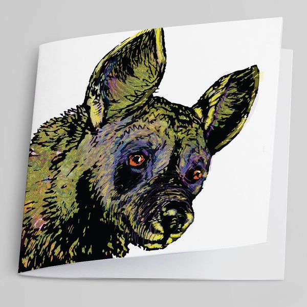 Wild Dog Greeting Card-Greeting Card-Tony Pinchuck-Tony Pinchuck