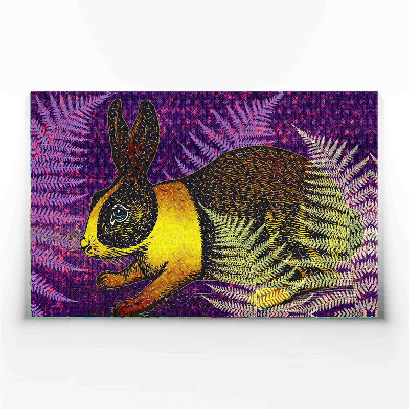 Yellow Rabbit Canvas Print-Canvas Prints-Tony Pinchuck-Medium (100 x 60 cm/ 40 x 24 in)-Tony Pinchuck