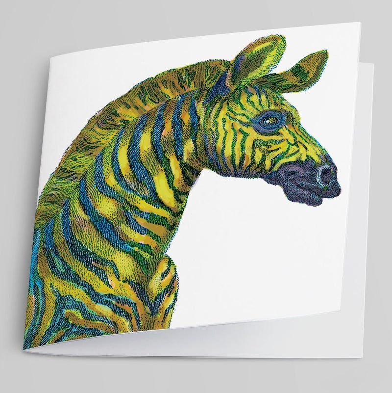 Zebra Greeting Card-Greeting Card-Tony Pinchuck-Tony Pinchuck