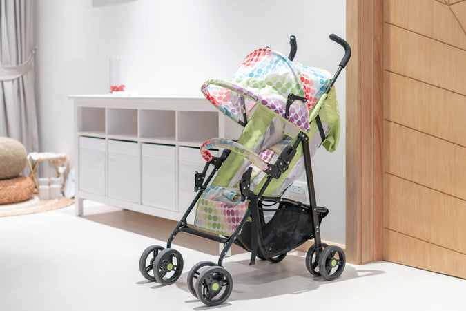 baby stroller inside the room