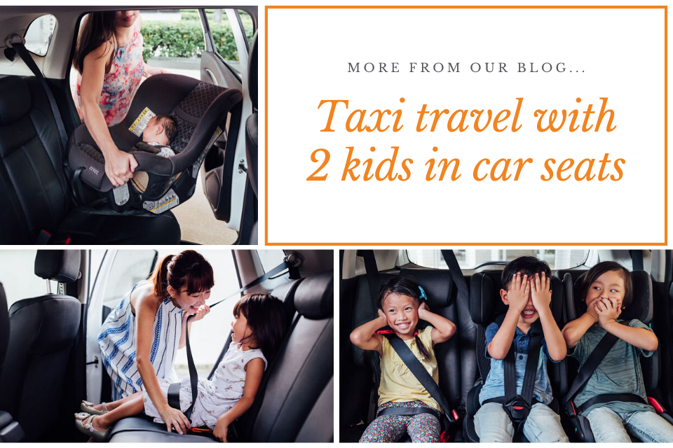 taxi travel with two kids in car seats