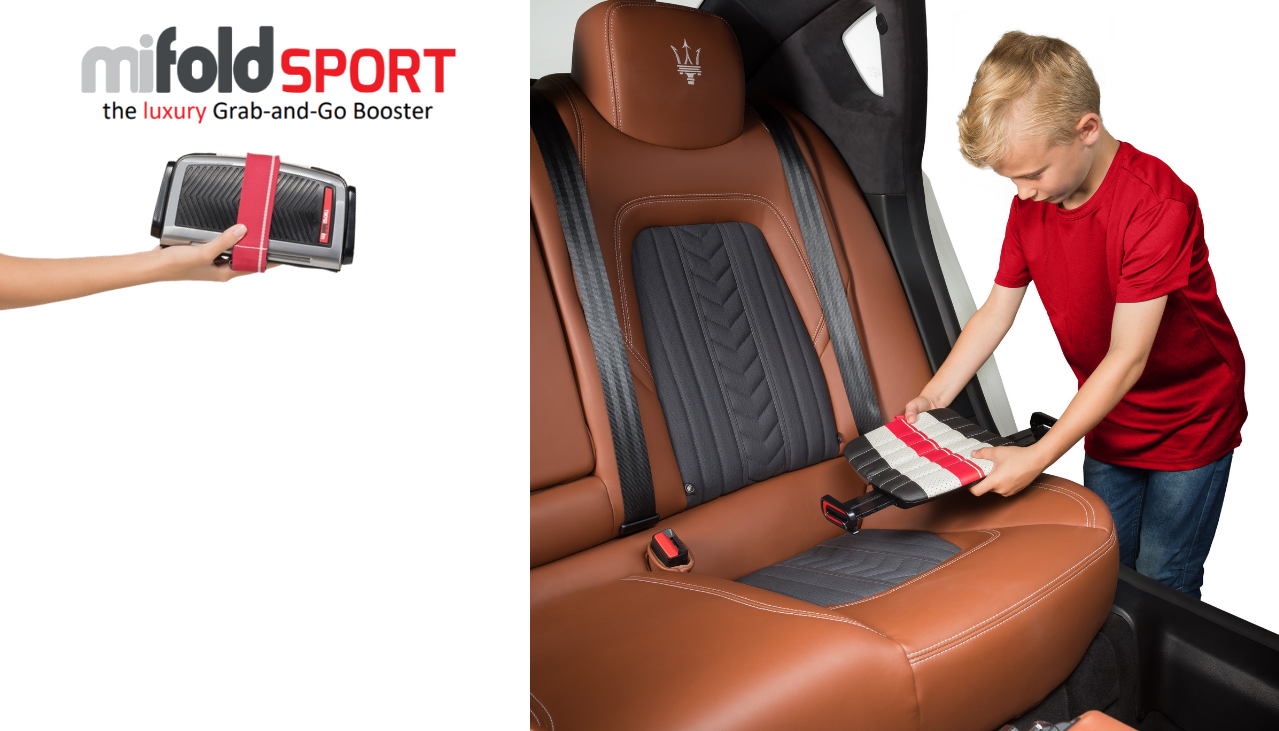Designed For Kids Aged 4 The Mifold Booster Seat Is Most Advanced Compact And Portable In World