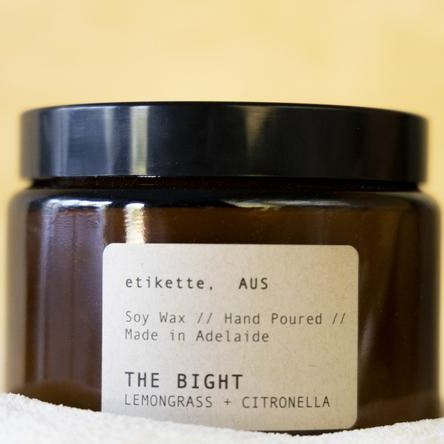 Etikette Candles The Bight / Lemongrass Citronella 500ml