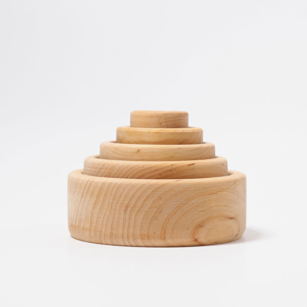 Grimms Stacking Bowls Natural