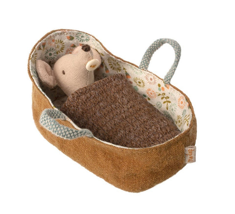 Maileg Mouse Baby in Carry Cot