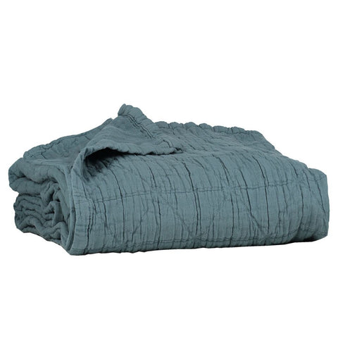 Camomile Cot Blanket Air Force Blue