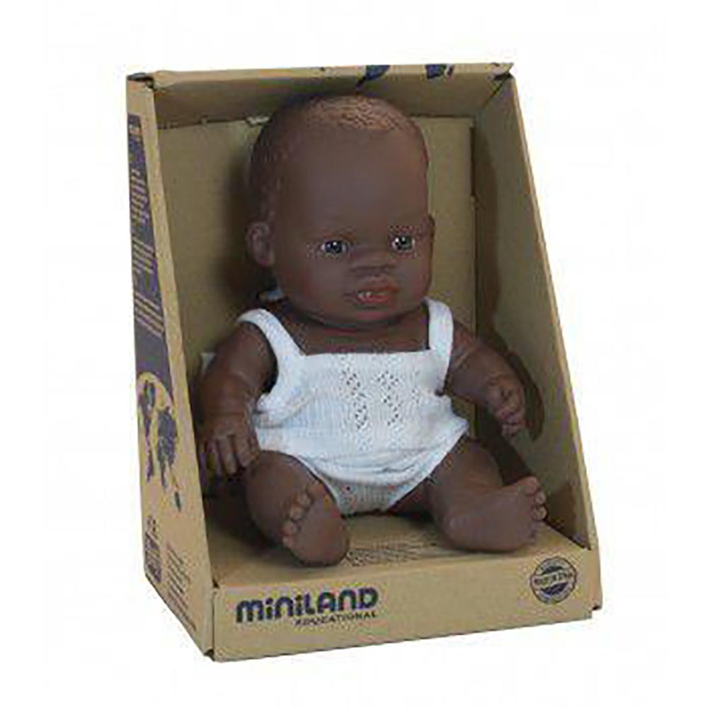 Miniland Baby African Girl 21cm