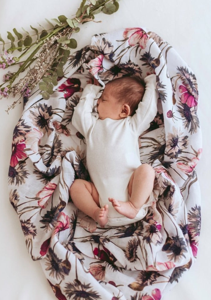 Pop Ya Tot All About Aster Organic Muslin Swaddle